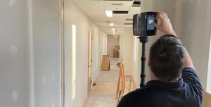 Faro 3D laser scanner on construction site