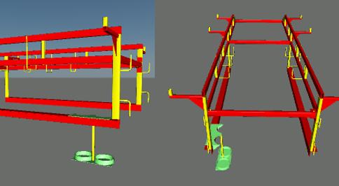 BIM Model of Custom Truck Rack