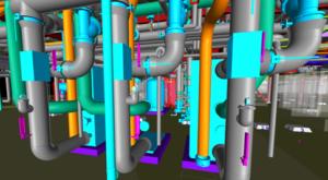 BIM model of mechanical pipe