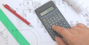 Calculator on blueprints