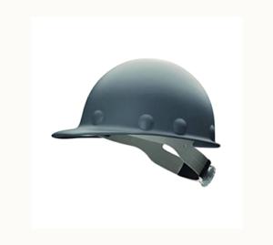 Grey Fibre Metal Hard Hat