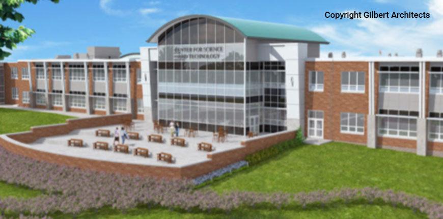 Front of Abington High School in Abington, Pennsylvania