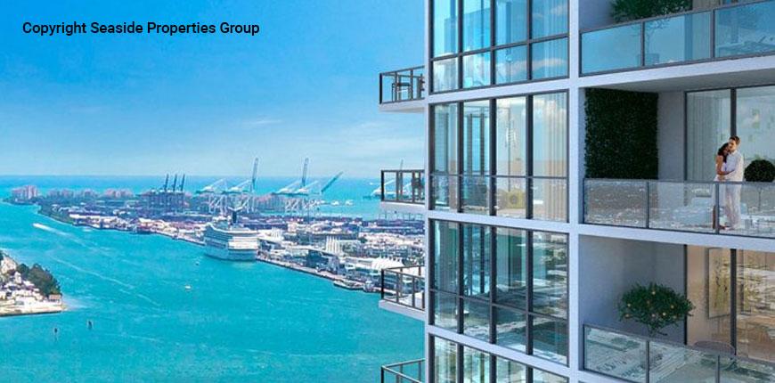 Seaside view from the CANVAS Miami luxury condos in Miami, Florida.
