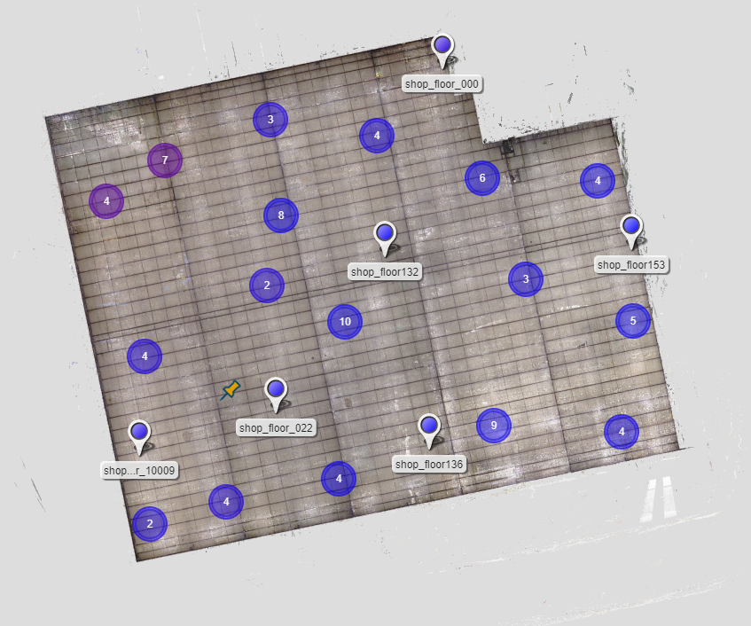 Facility layout created with 3D laser scanning